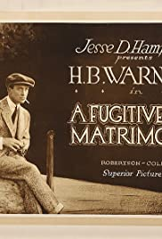 A Fugitive from Matrimony Poster