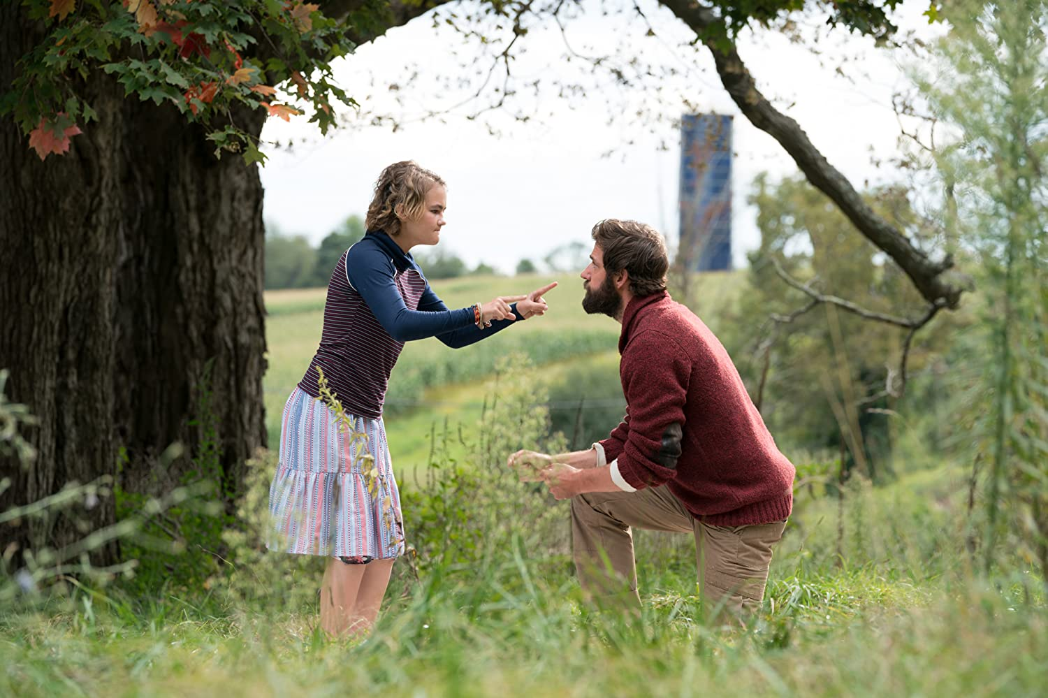 John Krasinski and Millicent Simmonds in A Quiet Place (2018)