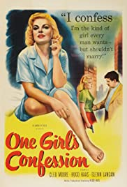 One Girl's Confession Poster