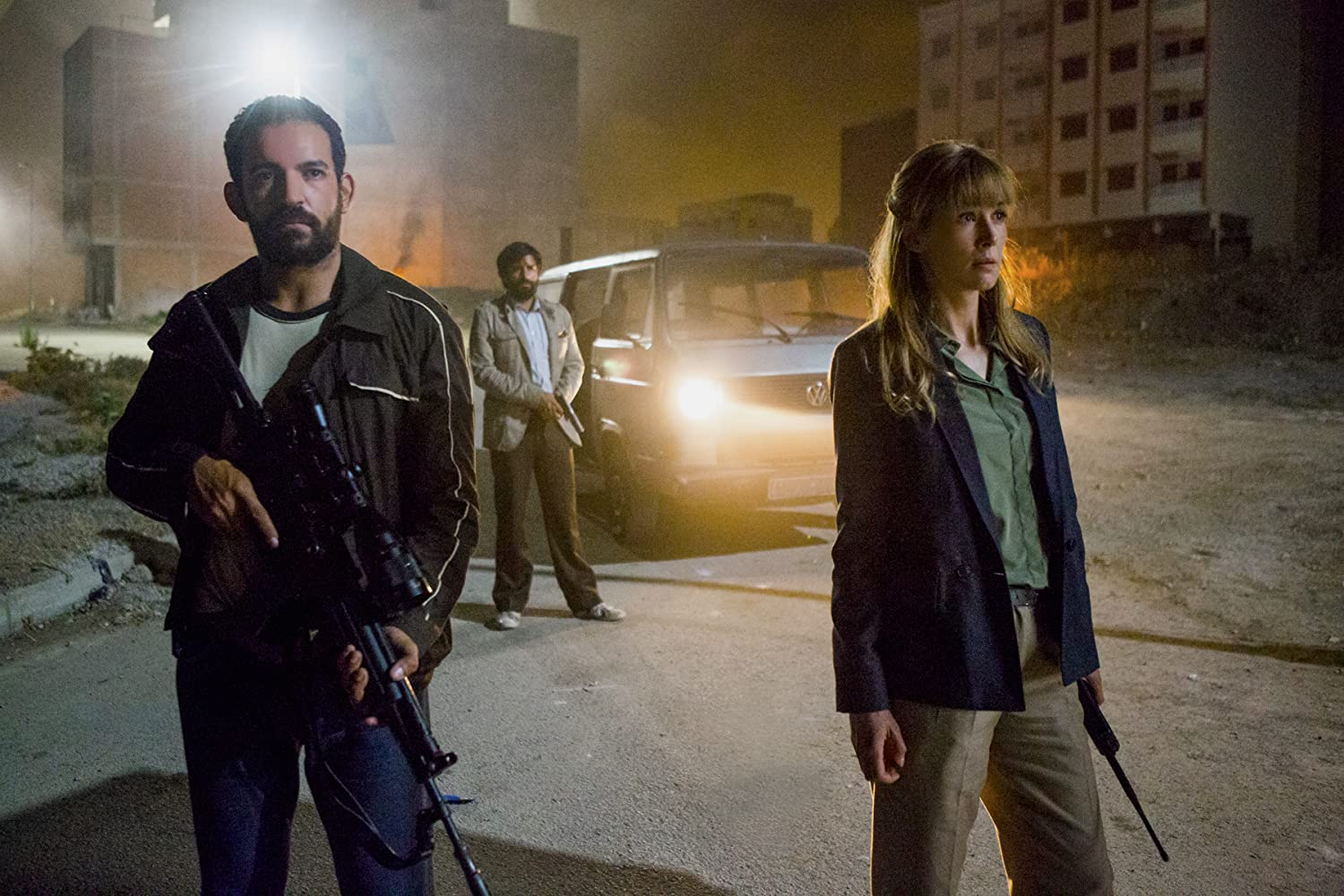Rosamund Pike, Ben Affan, and Mohamed Attougui in Beirut (2018)