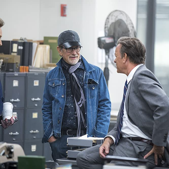 Tom Hanks, Steven Spielberg, and Meryl Streep in The Post (2017)