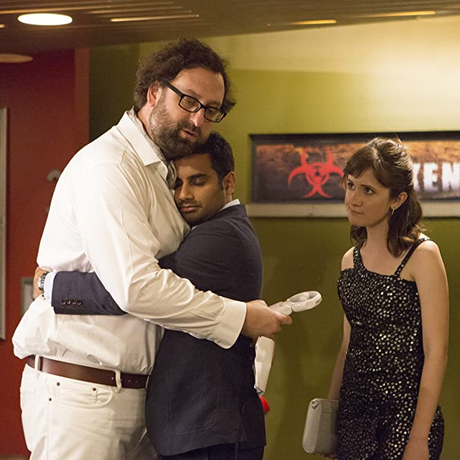 Eric Wareheim, Aziz Ansari, and Noël Wells in Master of None (2015)