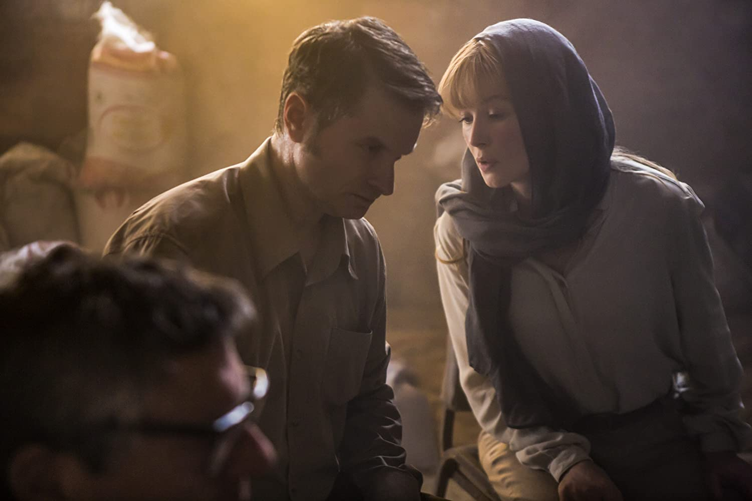 Rosamund Pike and Shea Whigham in Beirut (2018)