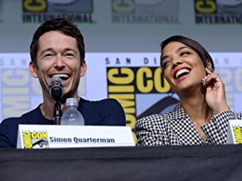 Simon Quarterman and Tessa Thompson at an event for Westworld (2016)