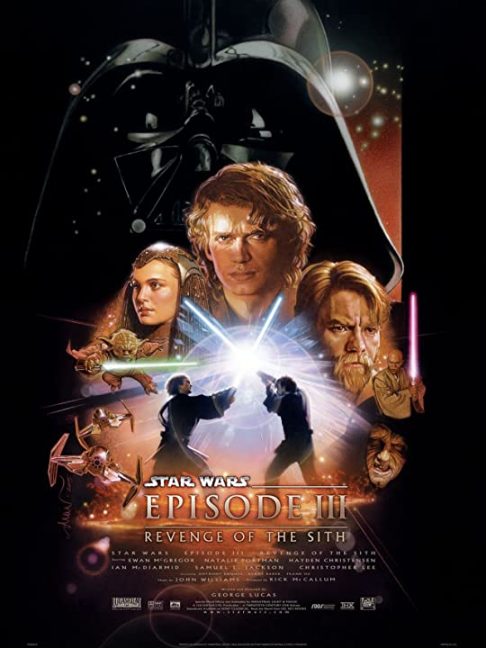 Poster Of Star Wars: Episode III - Revenge of the Sith (2005) Full Movie Download 300MB In Hindi English Dual Audio 720P Compressed Small Size Pc Movie at movies365.in