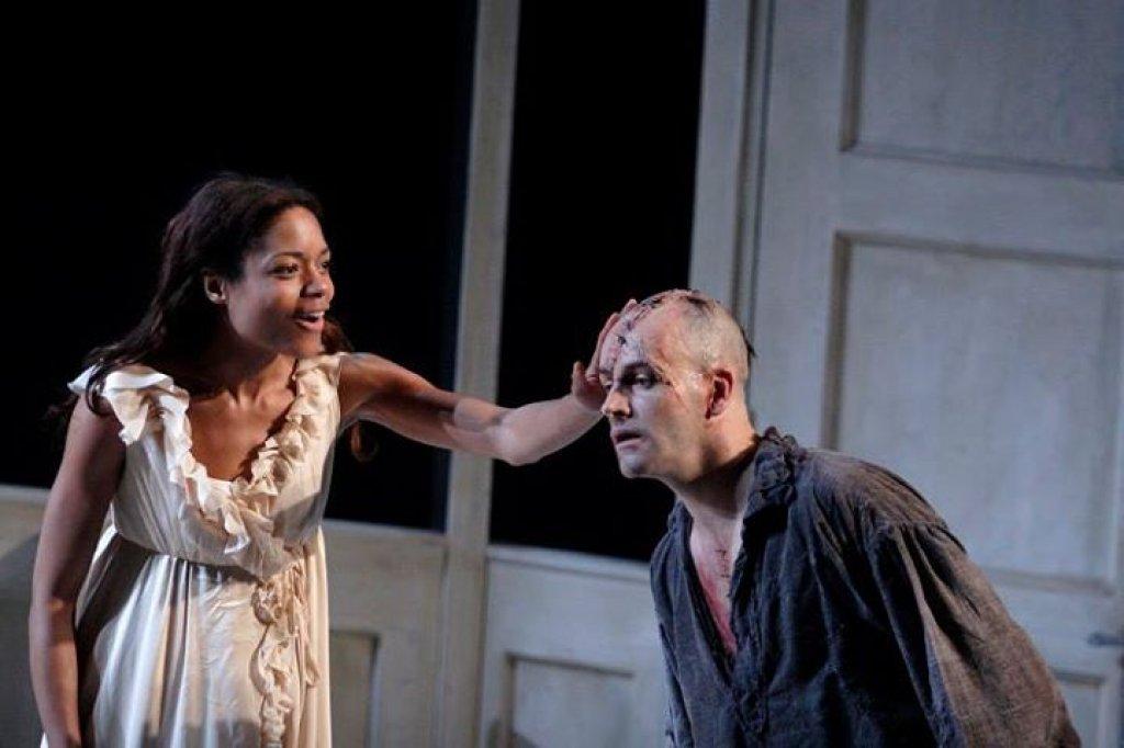 Naomie harris on stage in Frankenstein