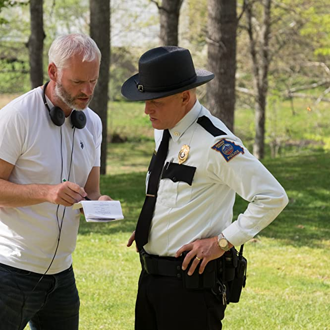 Woody Harrelson and Martin McDonagh in Three Billboards Outside Ebbing, Missouri (2017)