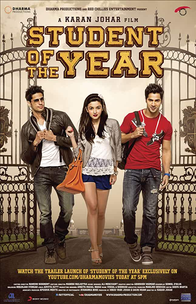 Student of the Year 2012 Movie Download Free 720p DVDRip Esub