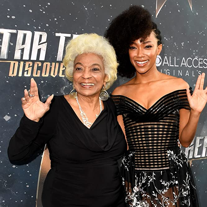 Nichelle Nichols and Sonequa Martin-Green at an event for Star Trek: Discovery (2017)