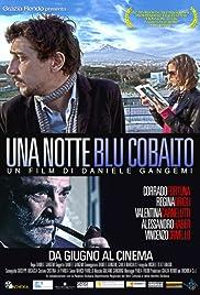 Una notte blu cobalto Poster