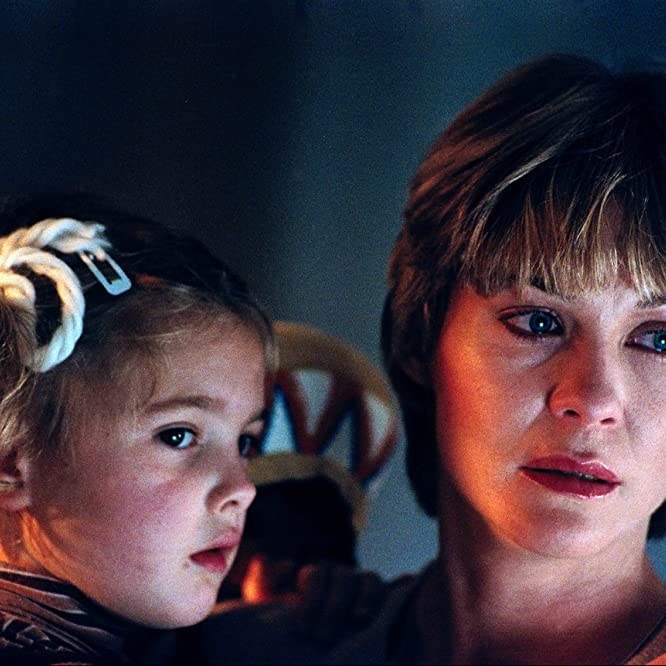 Drew Barrymore and Dee Wallace in E.T. the Extra-Terrestrial (1982)