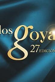 Los Goya 27 edición Poster