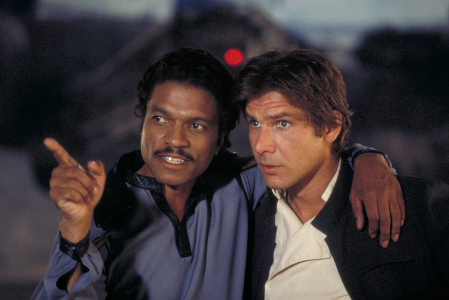 Harrison Ford and Billy Dee Williams in Star Wars: Episode V - The Empire Strikes Back (1980)