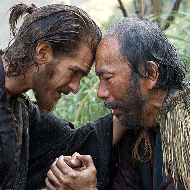 Shin'ya Tsukamoto and Andrew Garfield in Silence (2016)