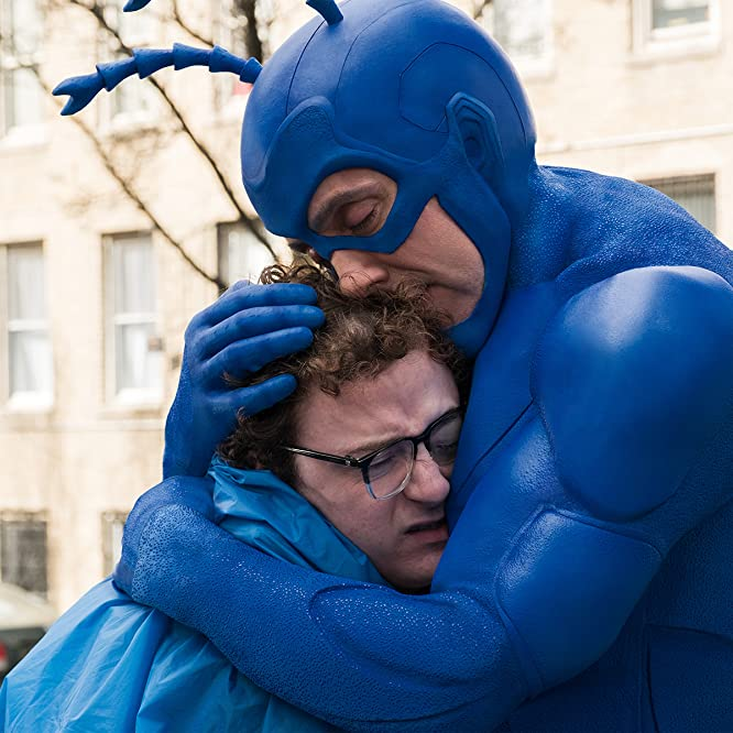 Peter Serafinowicz and Griffin Newman in The Tick (2017)