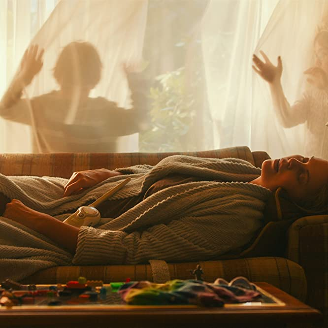 Charlize Theron and Asher Miles Fallica in Tully (2018)