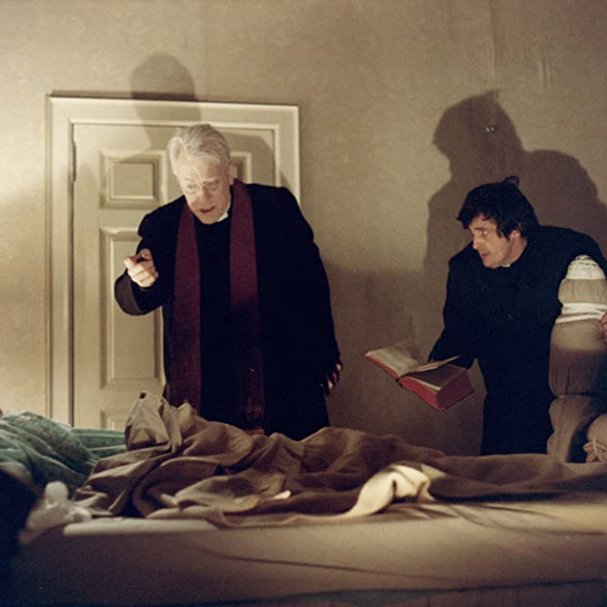 Linda Blair, Max von Sydow, and Jason Miller in The Exorcist (1973)