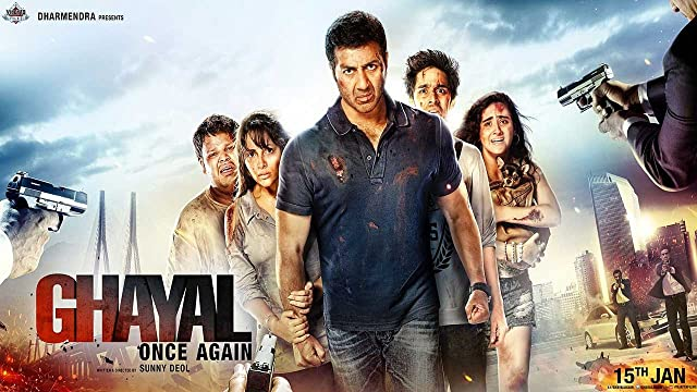 Poster Of Ghayal Once Again (2016) Full Bollywood Movie Free Download Watch Online At movies365.in