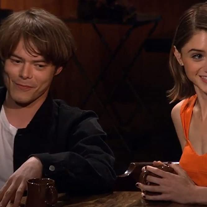 Natalia Dyer and Charlie Heaton in Beyond Stranger Things (2017)