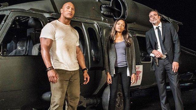 Naomie Harris, Dwayne Johnson, and Jeffrey Dean Morgan in Rampage (2018)