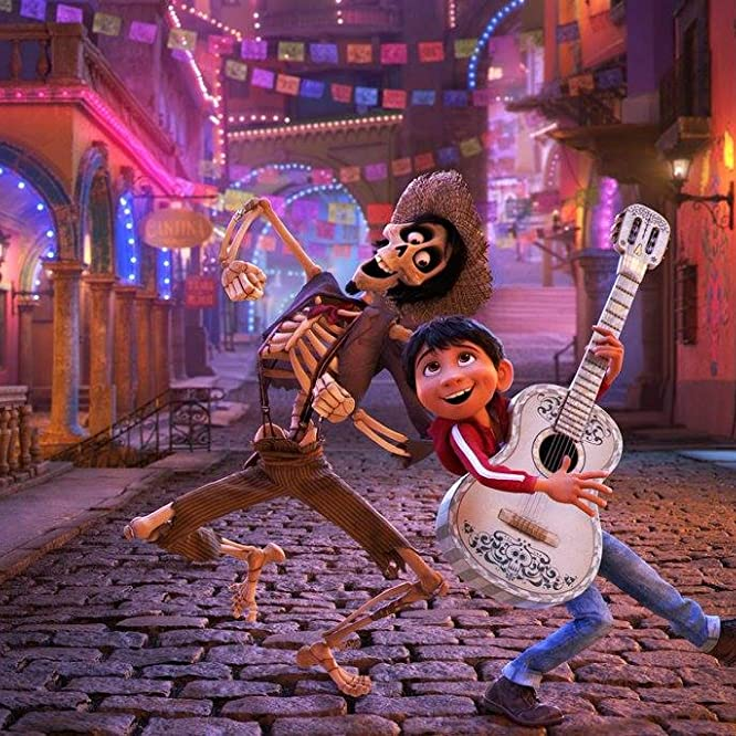Gael García Bernal and Anthony Gonzalez in Coco (2017)