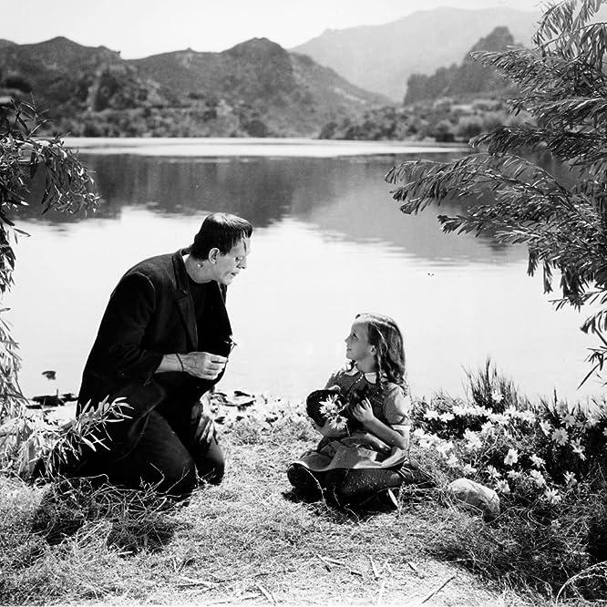 Boris Karloff and Marilyn Harris in Frankenstein (1931)