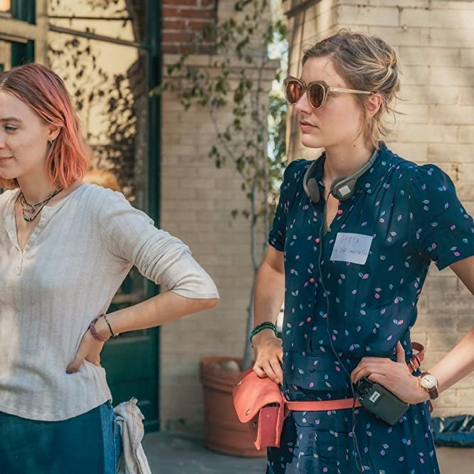 Saoirse Ronan and Greta Gerwig in Lady Bird (2017)