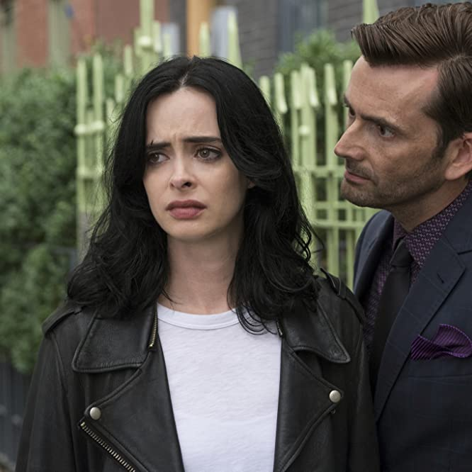 David Tennant and Krysten Ritter in Jessica Jones (2015)