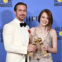Ryan Gosling and Emma Stone at an event for The 74th Golden Globe Awards (2017)