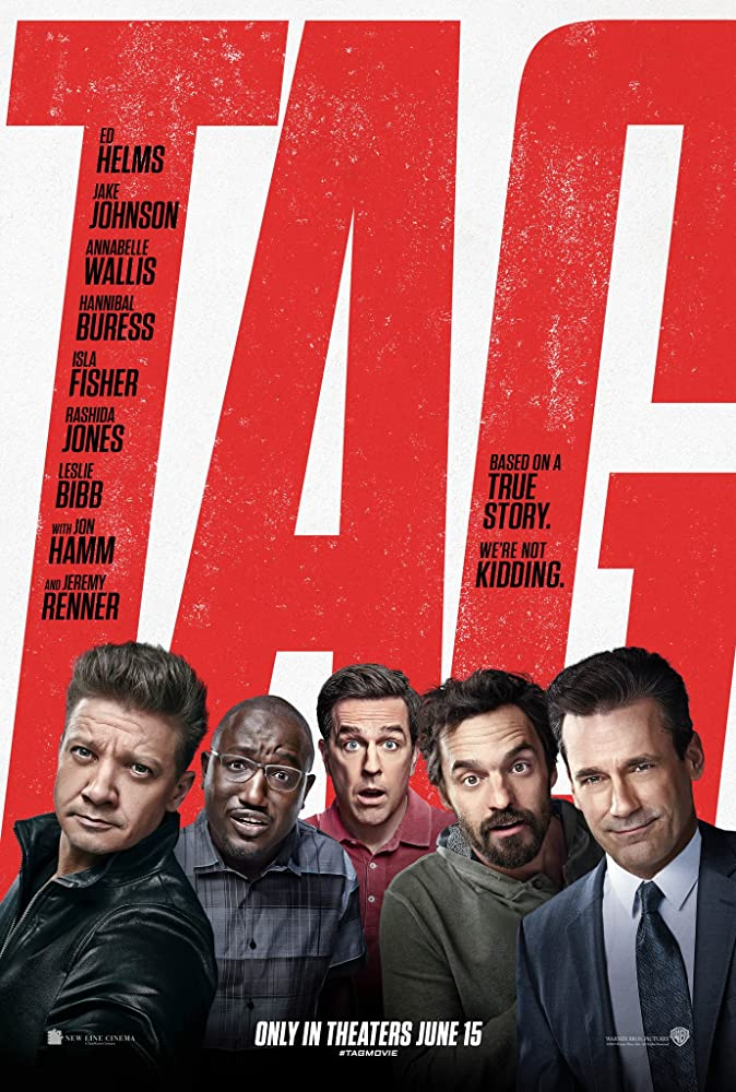 Jon Hamm, Jeremy Renner, Ed Helms, Jake Johnson, and Hannibal Buress in Tag (2018)