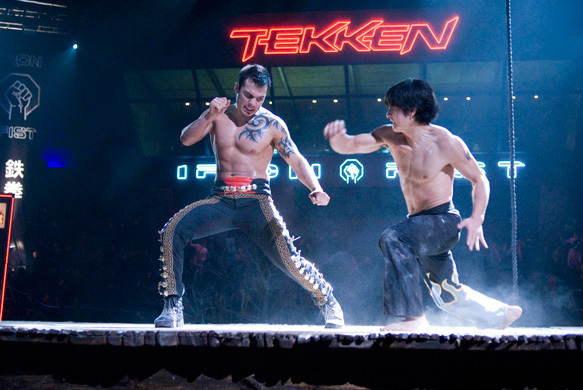 Jon Foo and Roger Huerta in Tekken (2010)