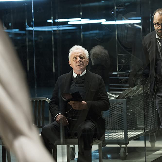 anthony hopkins and jeffrey wright in westworld 2016