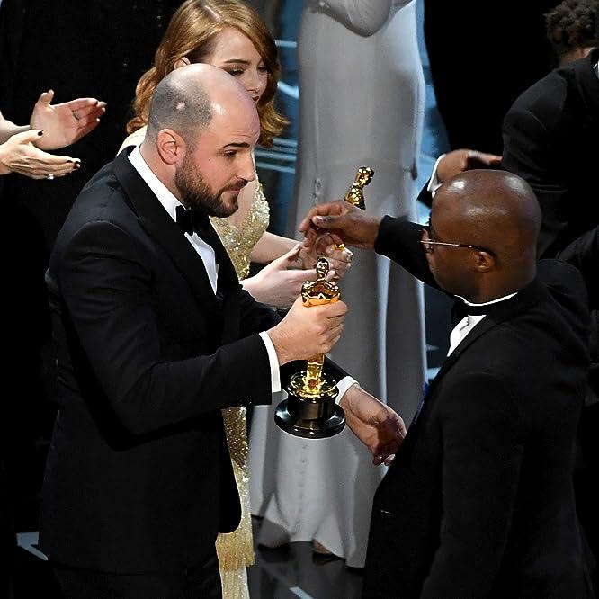 Emma Stone, Barry Jenkins, Jordan Horowitz, and Ashton Sanders at an event for The Oscars (2017)