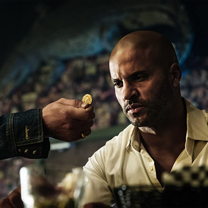 Pablo Schreiber and Ricky Whittle in American Gods (2017)