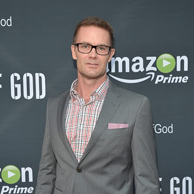 Garret Dillahunt at an event for Hand of God (2014)