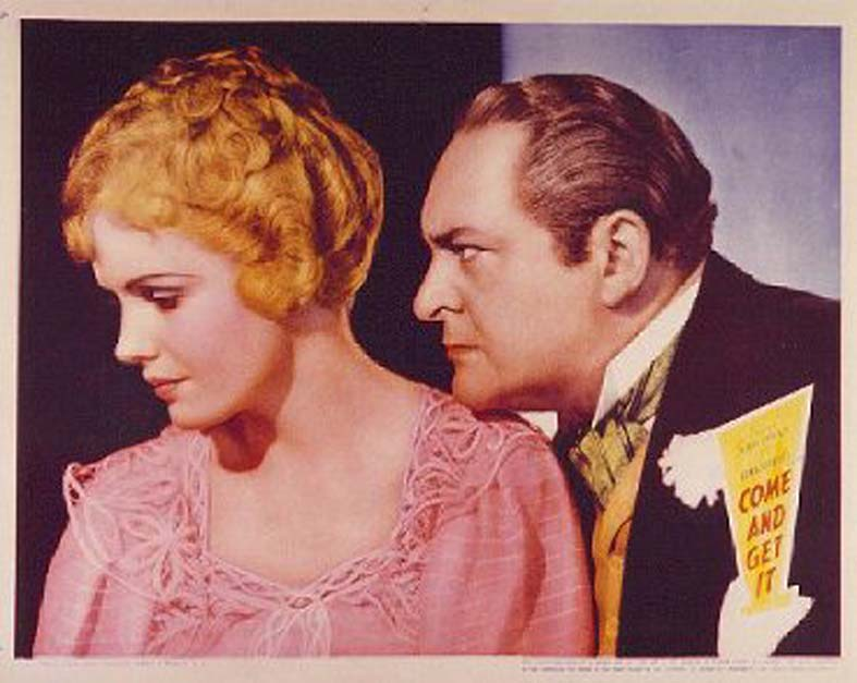 Frances Farmer and Edward Arnold in Come and Get It (1936)