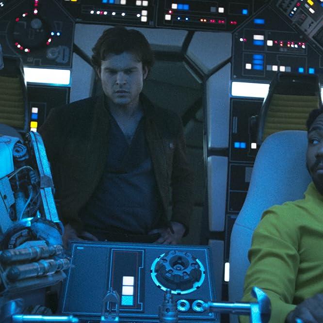 Donald Glover, Alden Ehrenreich, and Phoebe Waller-Bridge in Solo: A Star Wars Story (2018)