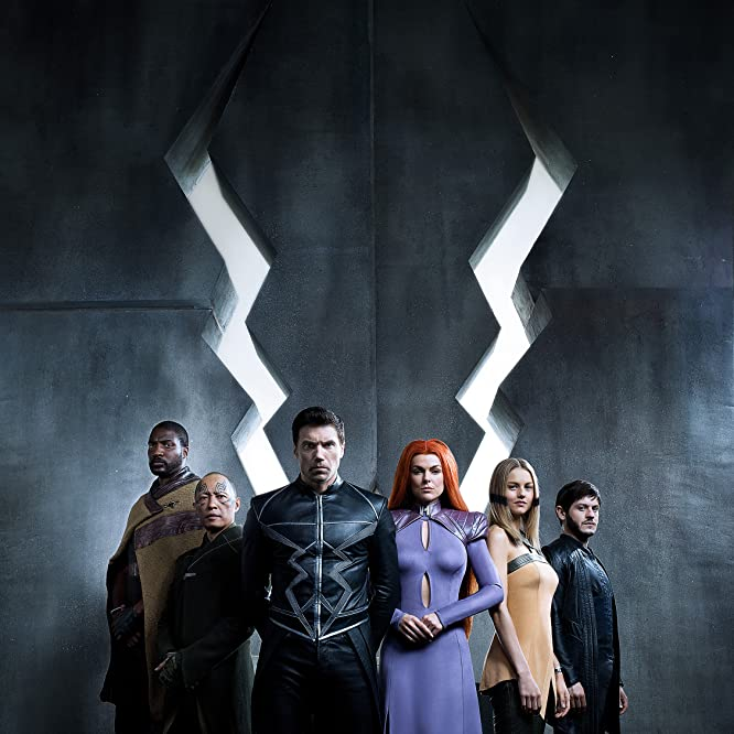 Ken Leung, Anson Mount, Serinda Swan, Eme Ikwuakor, Iwan Rheon, and Isabelle Cornish in Inhumans (2017)