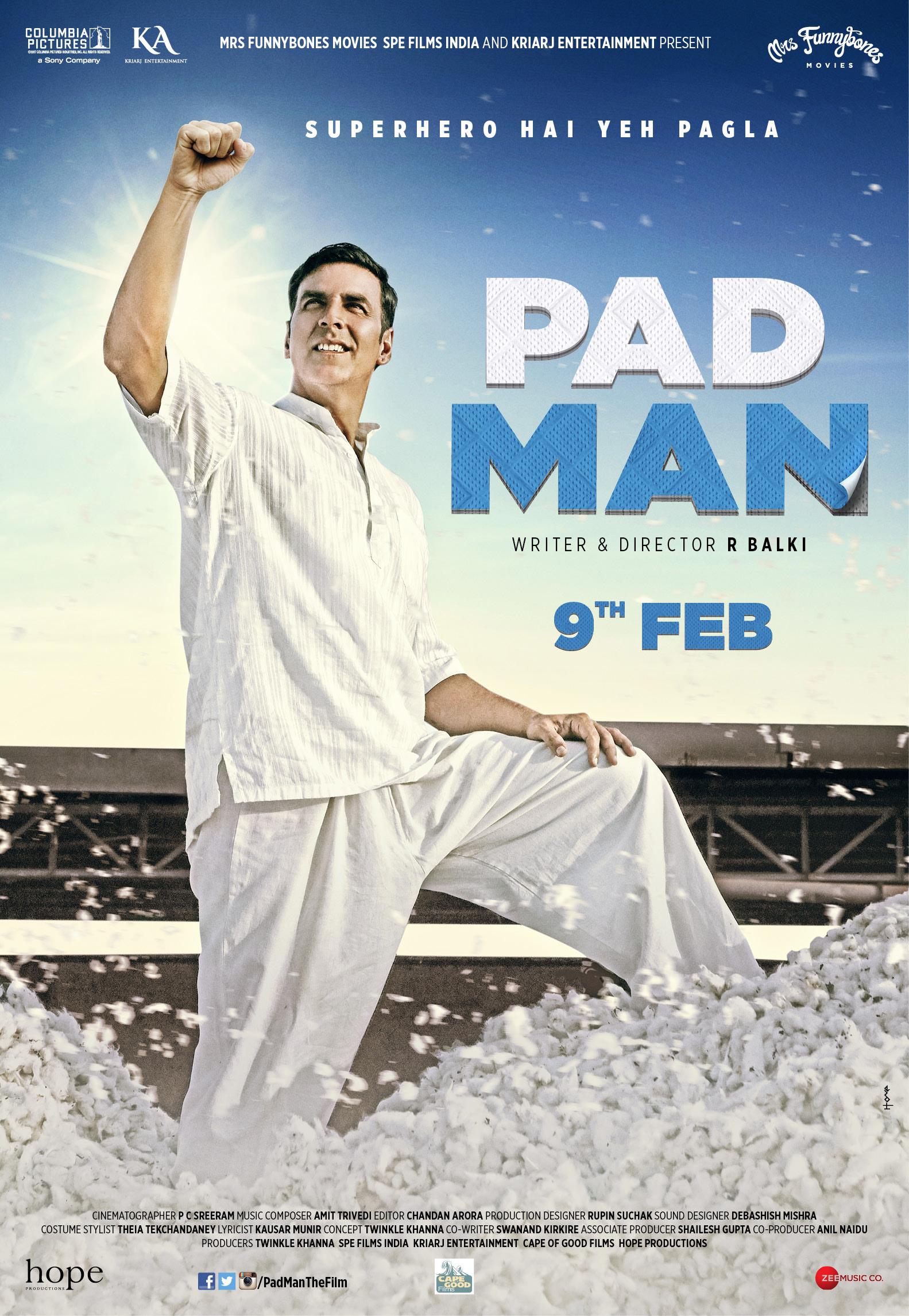 Padman (2018) Full Hindi Movie by Akshay Kumar & Sonam Kapoor
