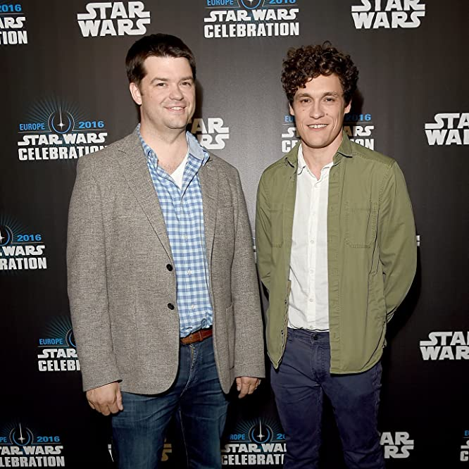 Phil Lord and Christopher Miller at an event for Rogue One: A Star Wars Story (2016)