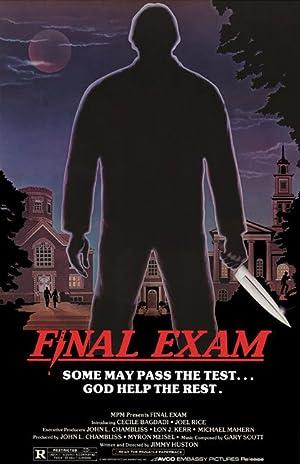 Final Exam poster