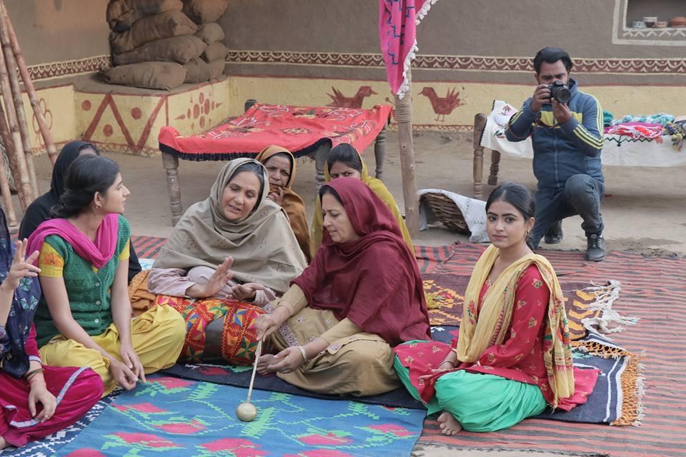 Rupinder Rupi and Simi Chahal in Daana Paani (2018)