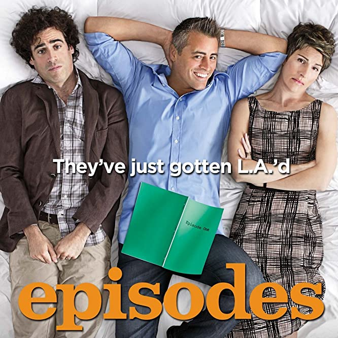 Matt LeBlanc, Tamsin Greig, and Stephen Mangan in Episodes (2011)