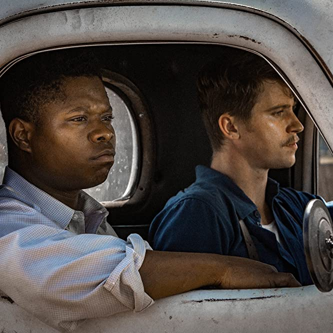 Garrett Hedlund and Jason Mitchell in Mudbound (2017)
