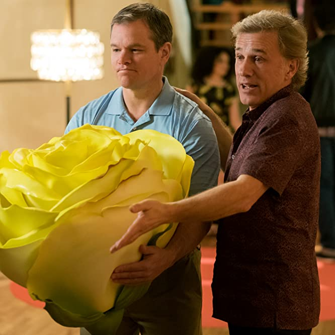 Matt Damon and Christoph Waltz in Downsizing (2017)