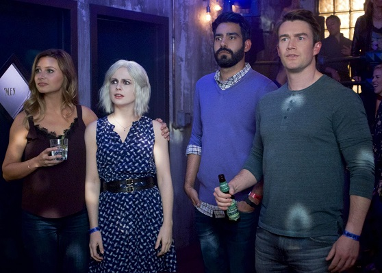 Robert Buckley, Rose McIver, Aly Michalka, and Rahul Kohli in iZombie (2015)