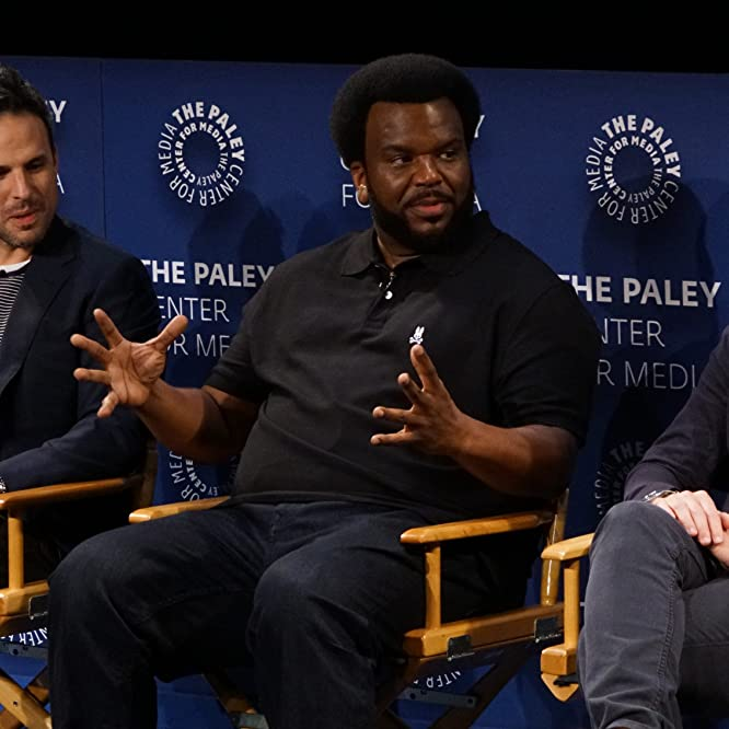 Adam Scott, Craig Robinson, and Tom Gormican at an event for Ghosted (2017)