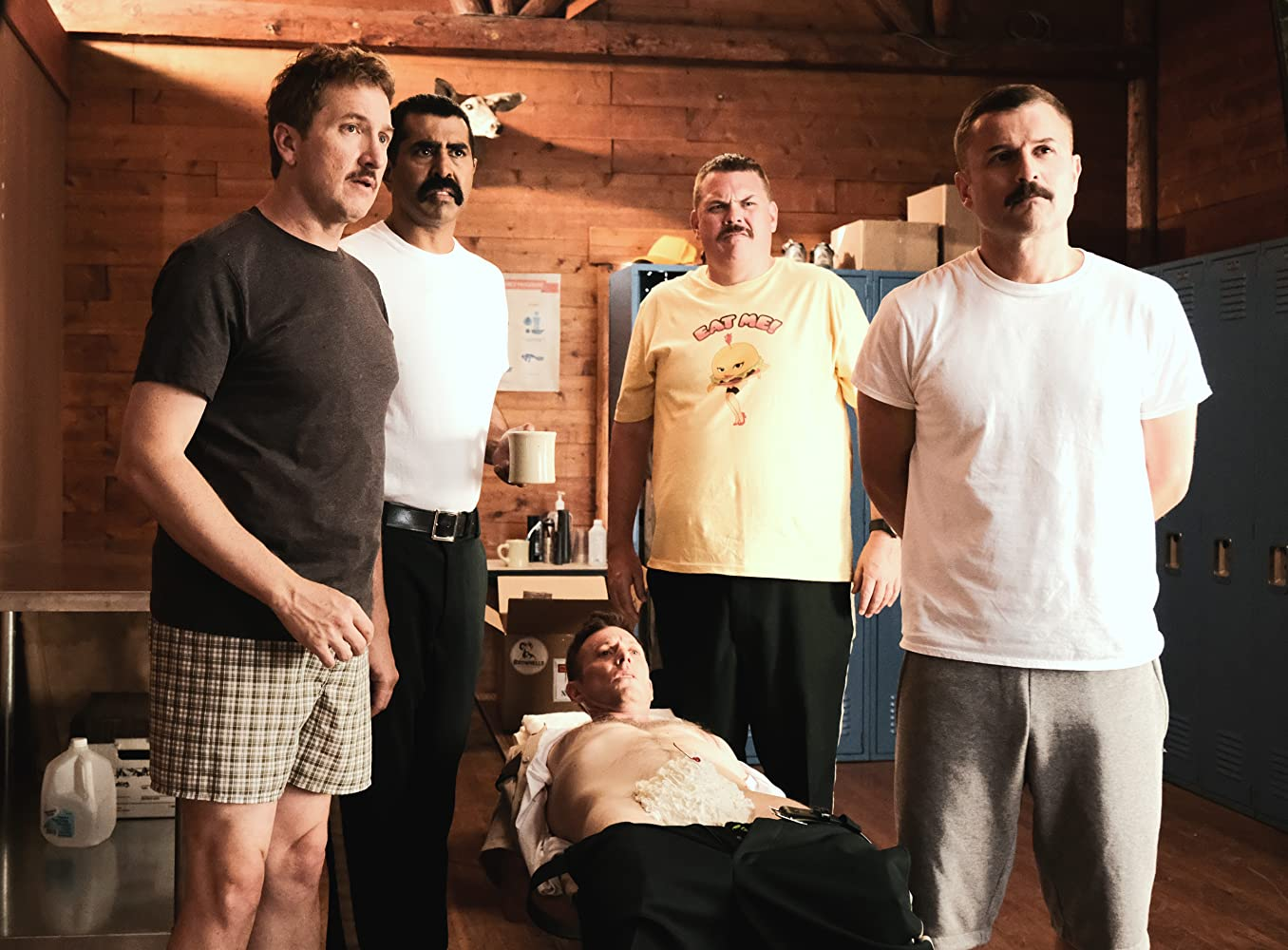 Jay Chandrasekhar, Kevin Heffernan, Steve Lemme, Paul Soter, Erik Stolhanske, and Super Troopers in Super Troopers 2 (2018)