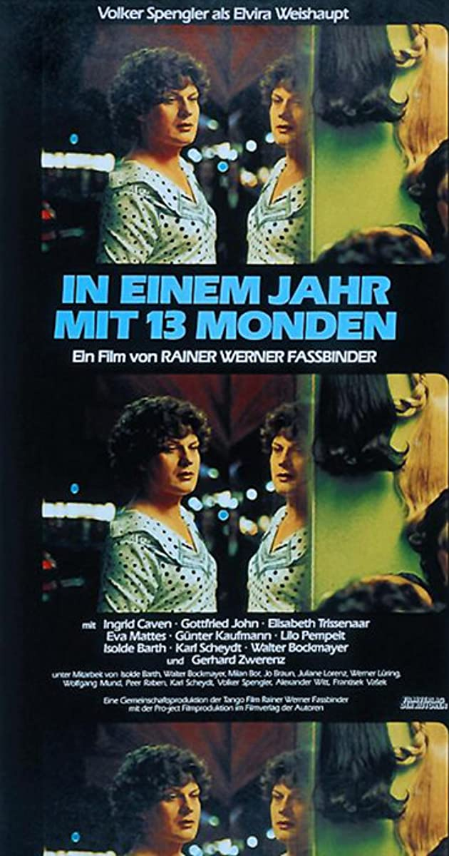 the theme of sexual and social confusion in rainer fassbinders film in a year of thirteen moons In a year of thirteen moons (1978) (in einem jahr mit 13 monden) is fassbinder most personal and bleakest work the film follows the tragic life of elvira, a transsexual formerly known as erwin in the last few days before her suicide, she and her prostitute friend decide to visit some of the important people and places in her life.