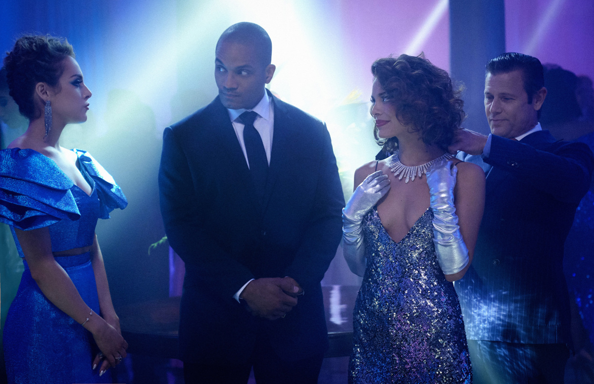 Grant Show, Nathalie Kelley, Craig Galloway, and Elizabeth Gillies in Dynasty (2017)